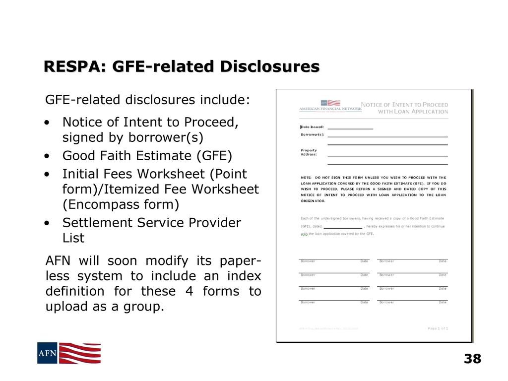 Worksheets Good Faith Estimate Worksheet plus related forms disclosures policies and procedures ppt download 39 respa