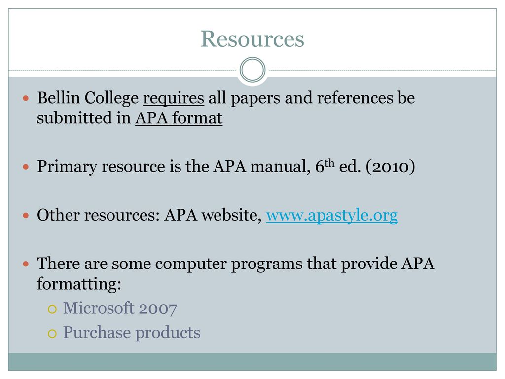 programs for apa format