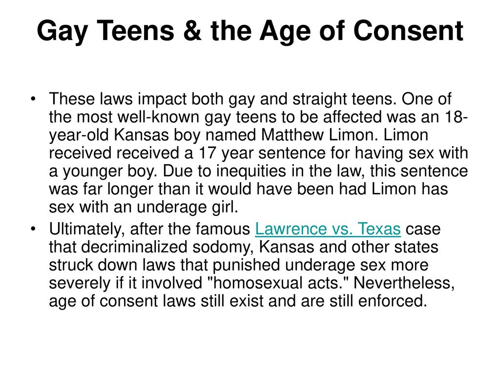 Massachusetts age of consent homosexual