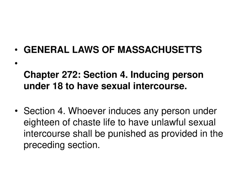 massachusetts romeo and juliet law