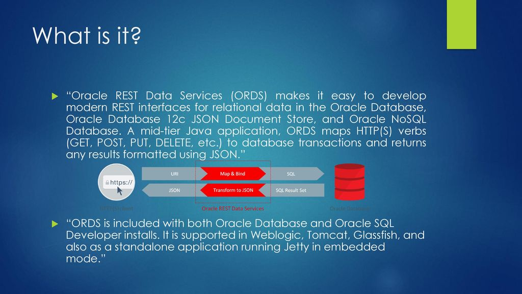 Oracle REST data services - ppt download