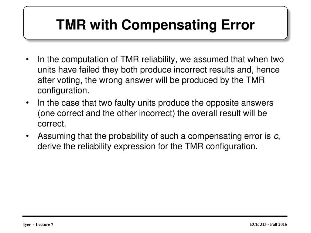 define compensating error