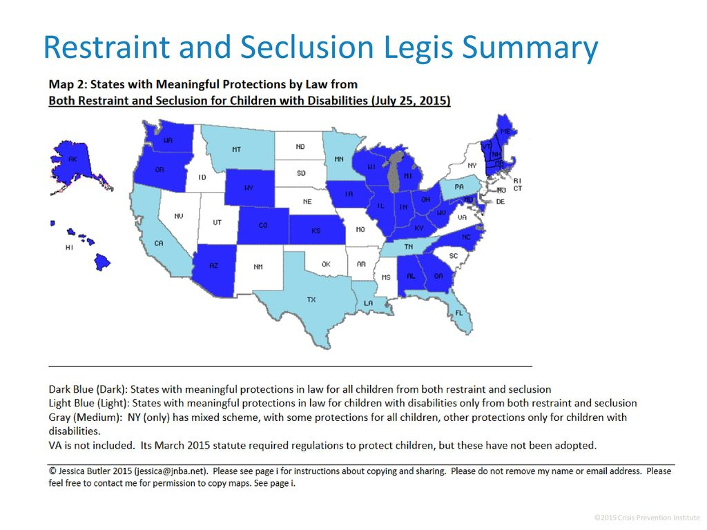 New Report On State Laws On Seclusion >> Restraint And Seclusion Ppt Download