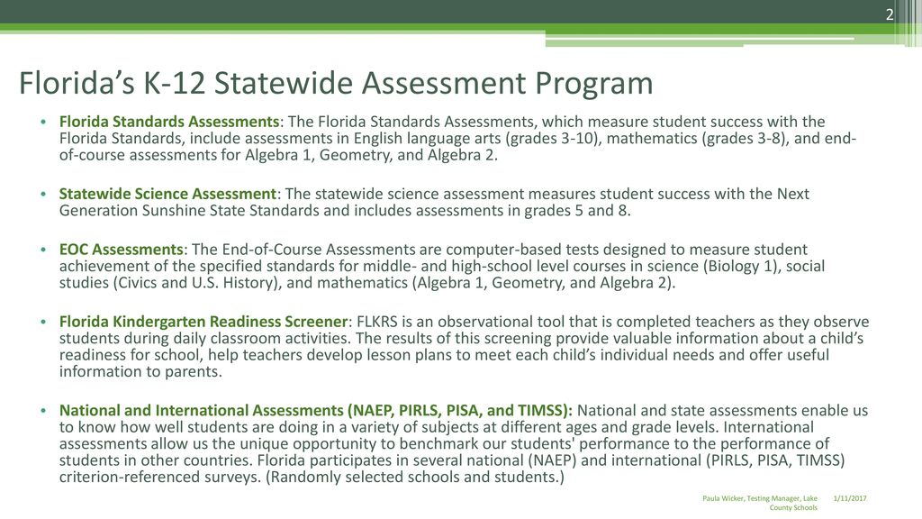 Lake County Testing Overview - ppt download