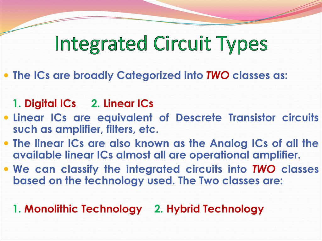 Circuittypes Op Amp Basics Linear Applications Ppt Download Integrated Circuit Types