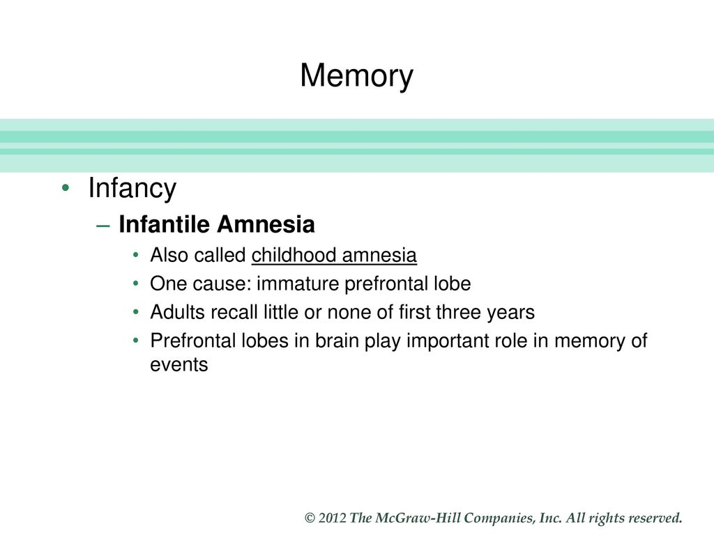childhood amnesia