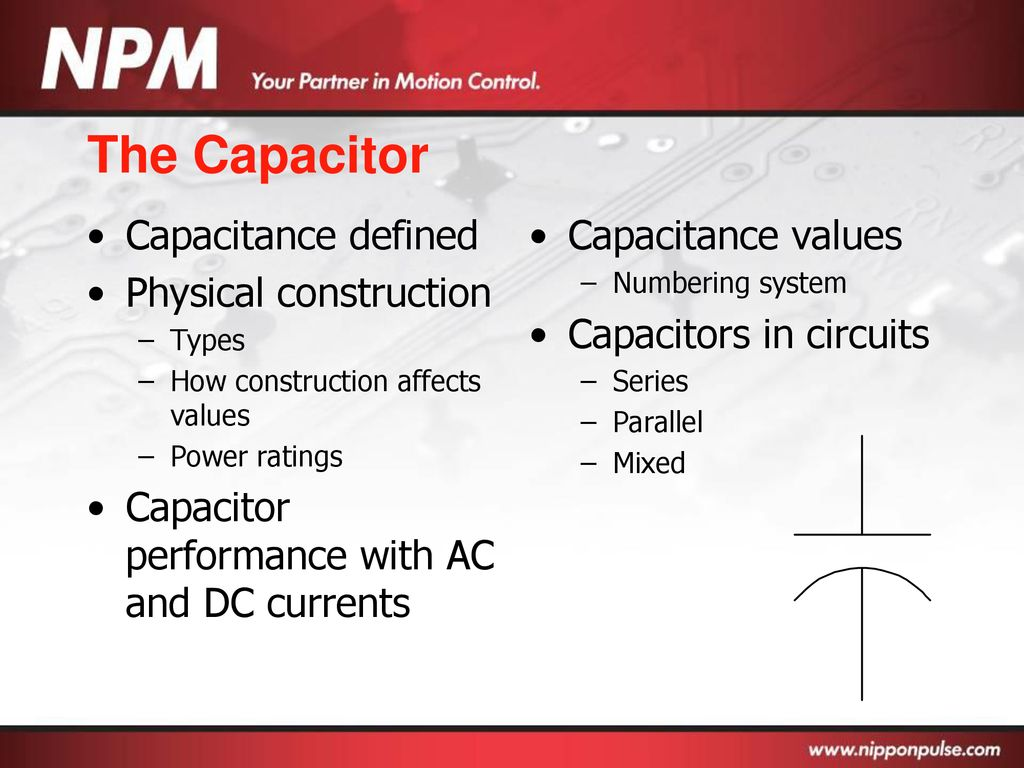 Basic Electronics Ppt Download Capacitor In A Dc Circuit There Is 9v Battery Series With 70 The Capacitance