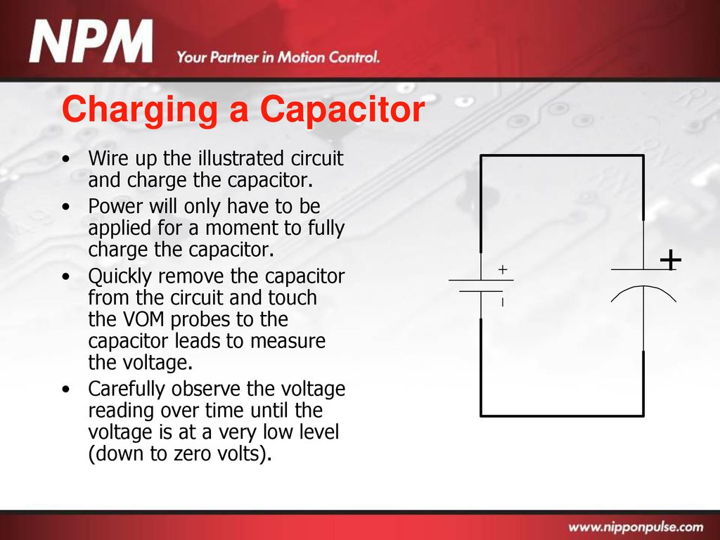 Basic Electronics Ppt Download Circuits Charging A 500 F Capacitor It Charges Up 78 Wire The Illustrated Circuit And Charge