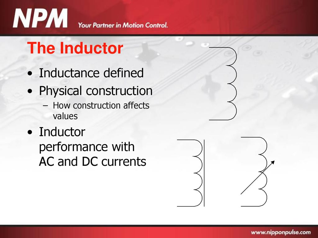Basic Electronics Ppt Download Inductors In Ac Dc Circuits Explained Electronic Circuit Projects The Inductor Inductance Defined Physical Construction