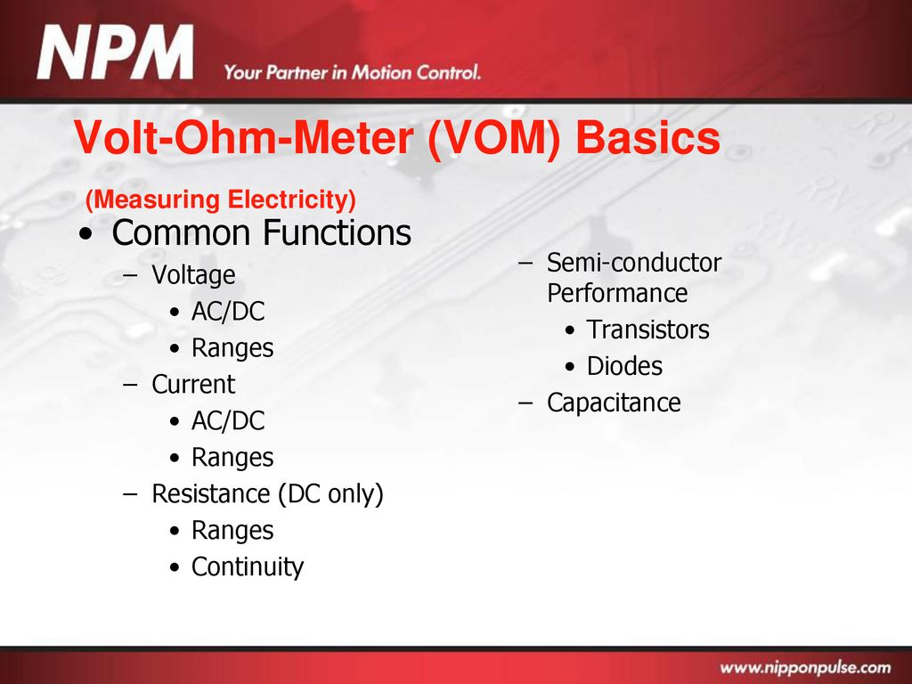 Basic Electronics Ppt Download Transistors Dc Voltage Grounded With Ac Input Electrical 9 Volt Ohm Meter