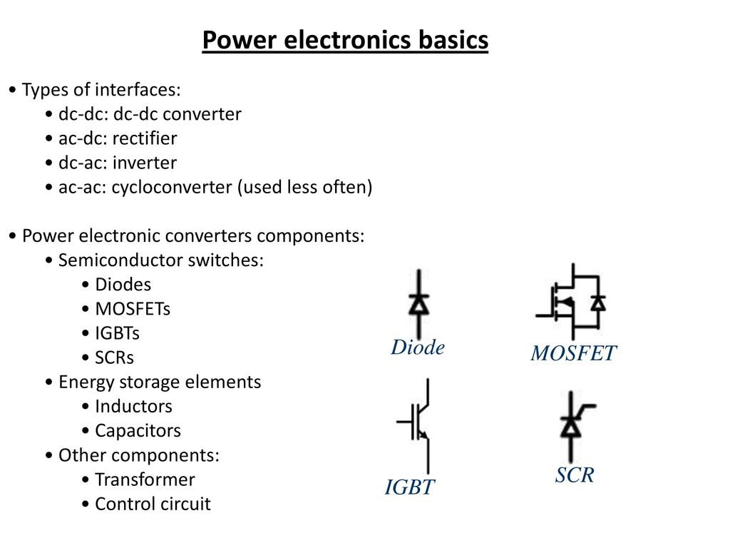 Power Electronics Its Application Ppt Download Capacitors Inductors And Transformers In Electronic Circuits Analog Other Components Transformer Control Circuit Diode Mosfet Scr Igbt Basics