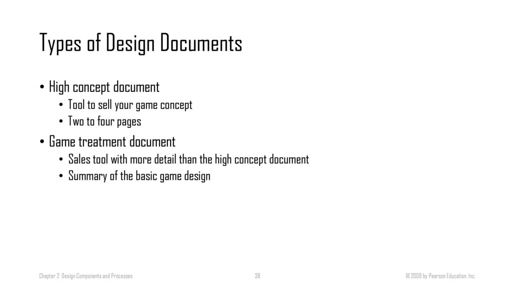 Designing And Developing Games Ppt Download - High concept document game design