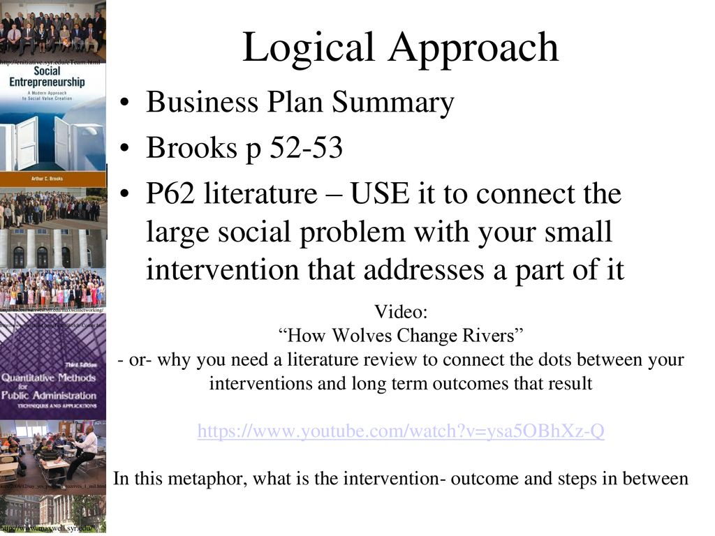 Lecture 04: Social Enterprise Business Plans and Community Need