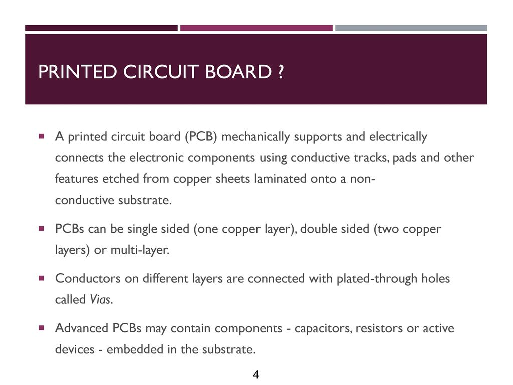 Printed Circuit Board Design - ppt download