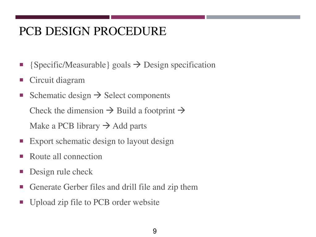 Printed Circuit Board Design Ppt Download Suggestions Check Diagram Wiring Pcb Procedure Specific Measurable Goals Specification