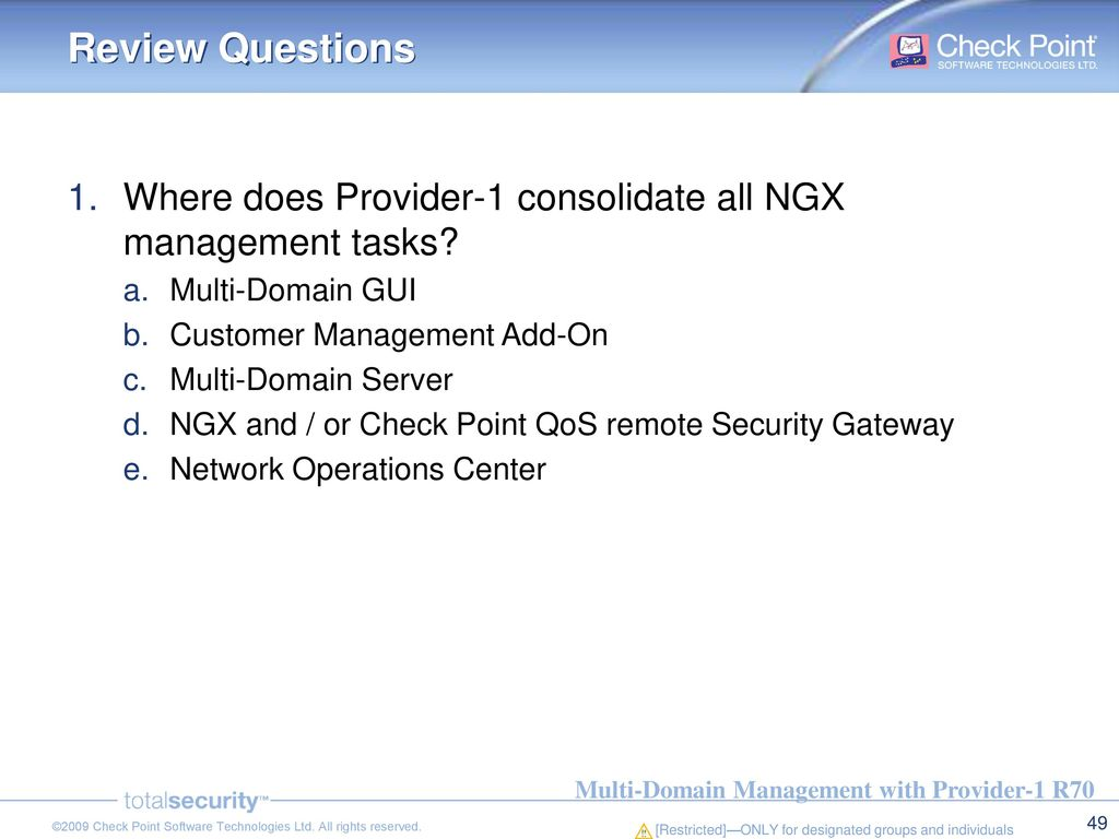 Multi-Domain Management with Provider-1 R70 - ppt download