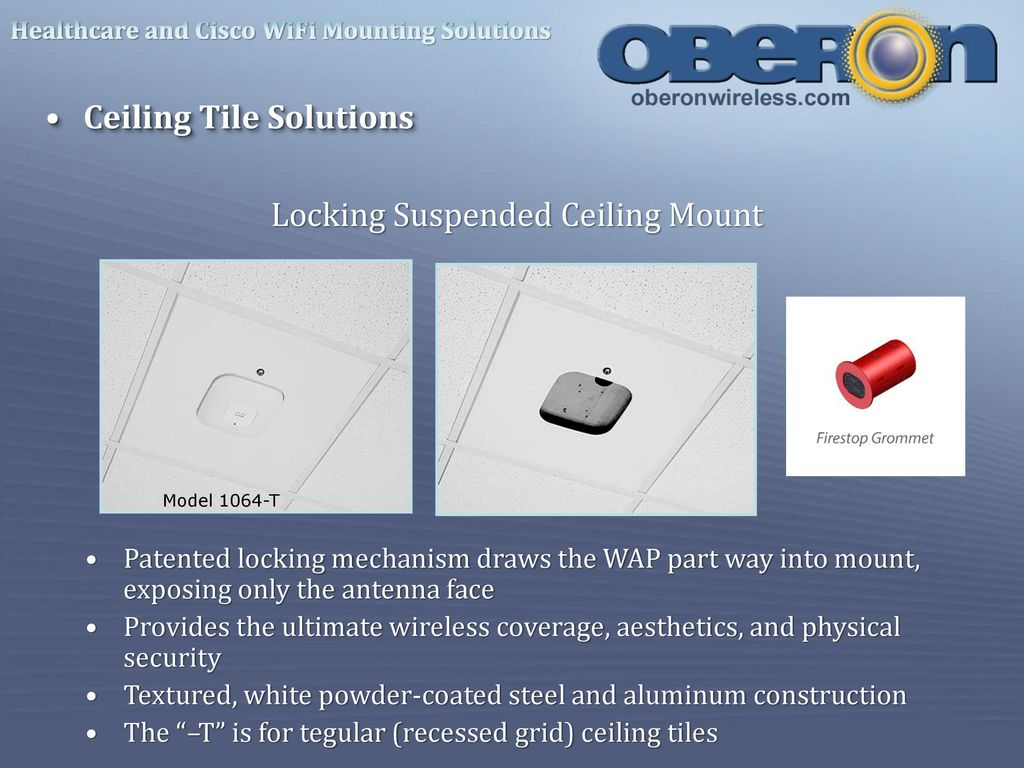 Professional Wi Fi Installation Solutions Ppt Download Oberon Wire Diagram 27 Locking Suspended Ceiling Mount