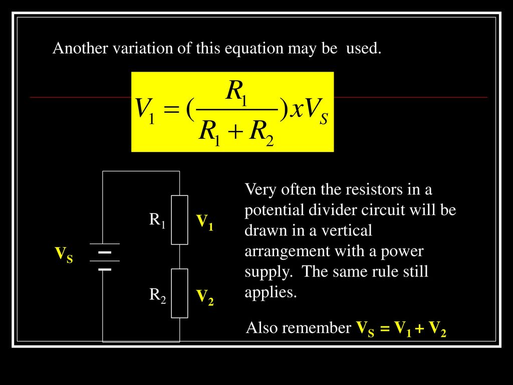 Electricity Ppt Download Free Voltage Divider Circuit Diagram 6 Another