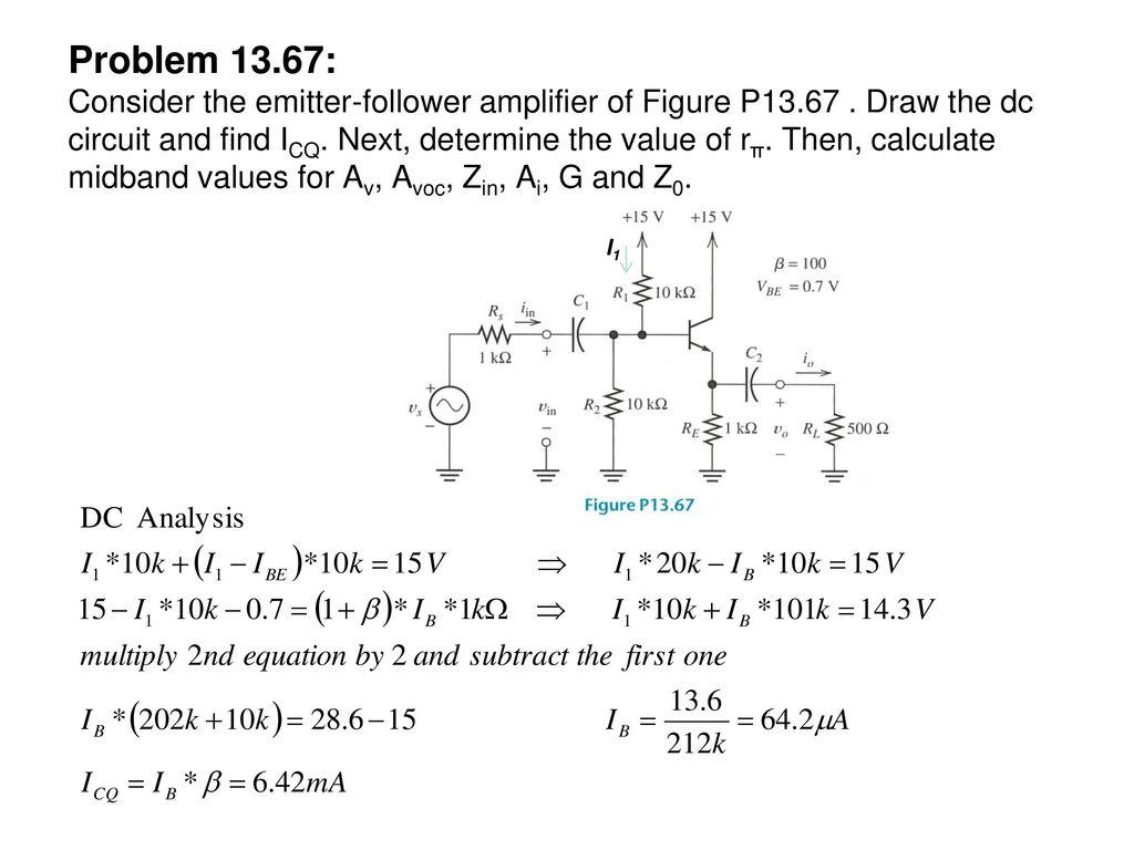 Bipolar Junction Transistor Circuit Analysis Ppt Download Emitter Follower Problem Consider The Amplifier Of Figure P13