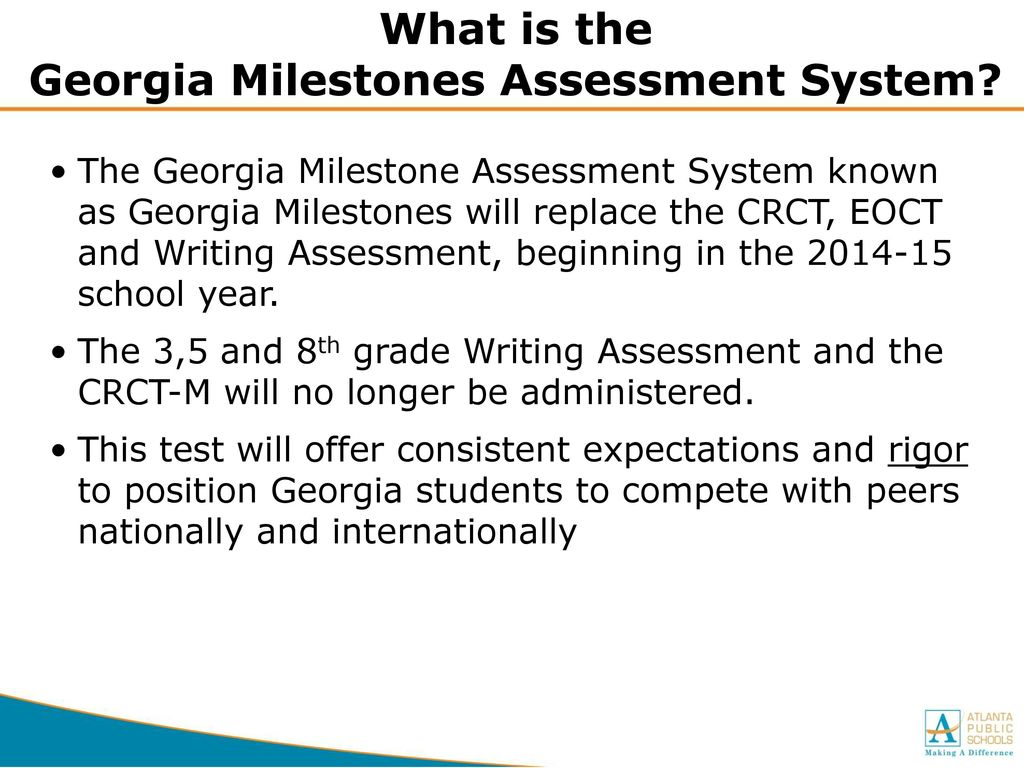 What is the Georgia Milestones Assessment System