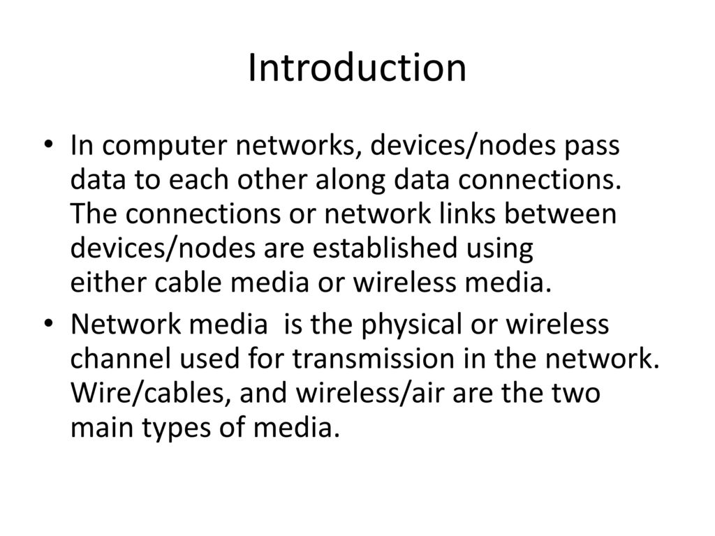 Network Communication Media and Devices - ppt download