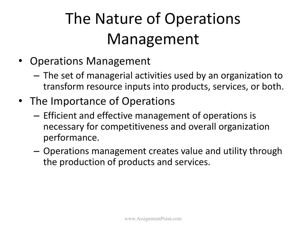Managing Operations, Quality and Productivity - ppt download