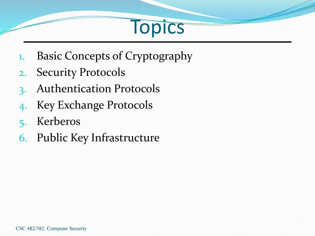 Authentication: this is what the basic concepts 38