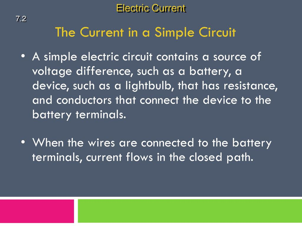 physical science 72 electric current ppt download