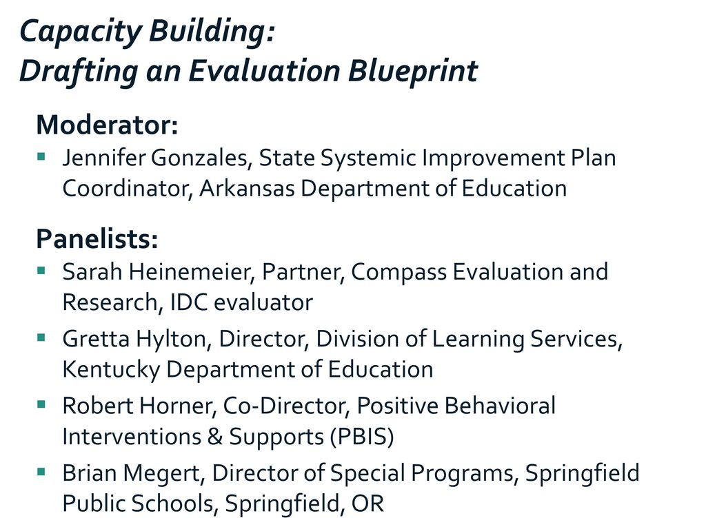 Capacity building drafting an evaluation blueprint ppt download capacity building drafting an evaluation blueprint malvernweather Gallery