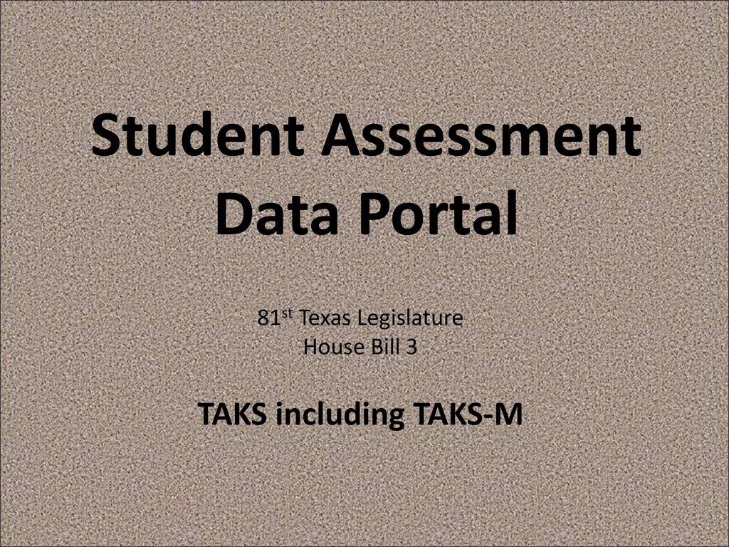 Student Assessment Data Portal - ppt download