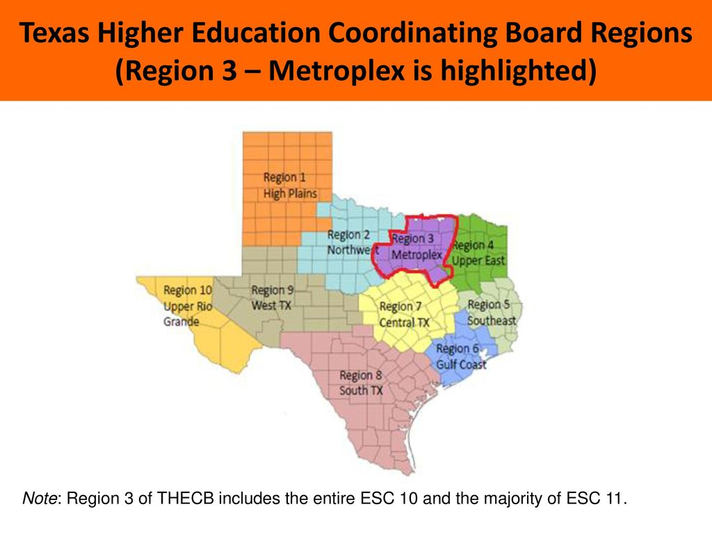 Map Of Texas Esc Regions.North Texas Regional P 16 Gap Analysis For The School Year Of Ppt