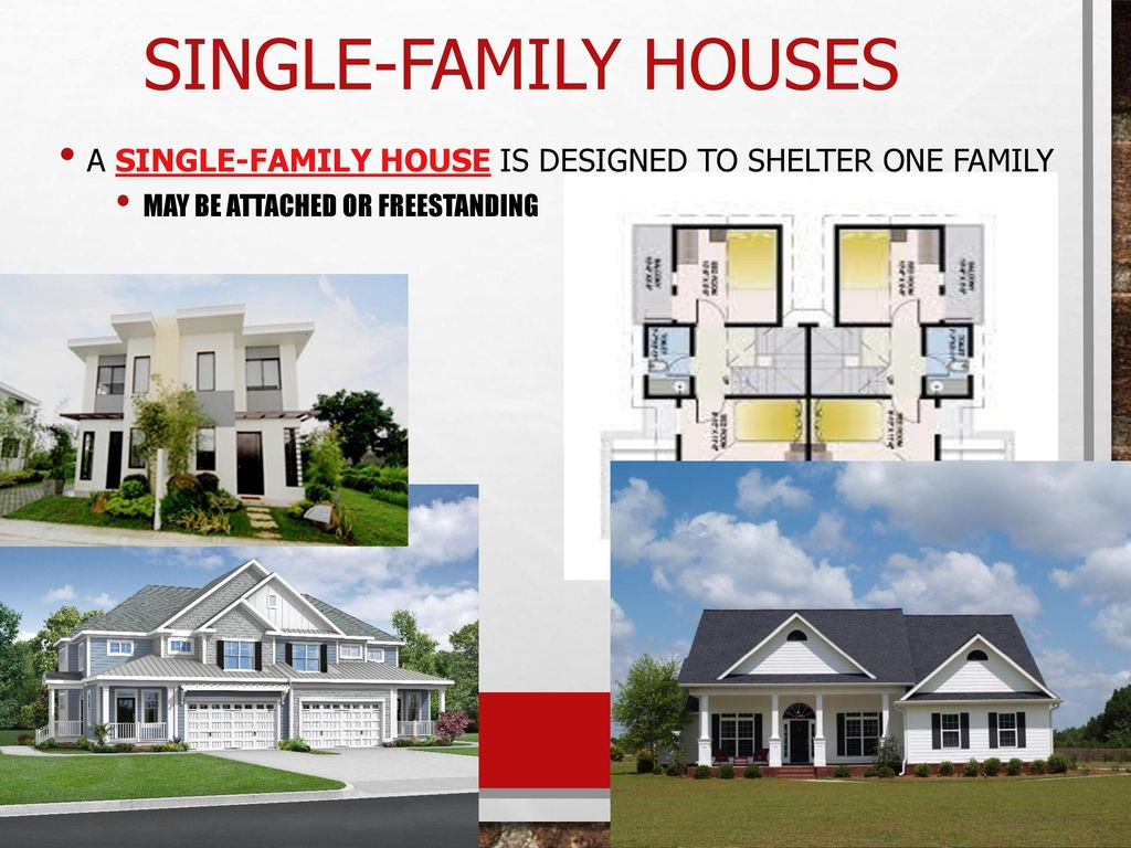 Single Family Houses A House Is Designed To Shelter One
