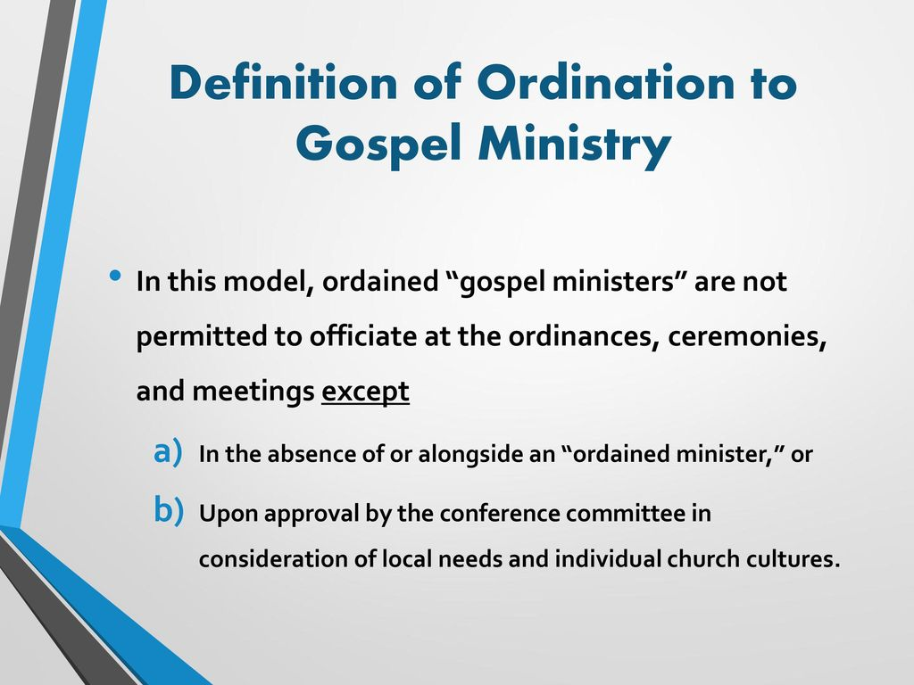 a consensus approach to ordination in the sda church - ppt download