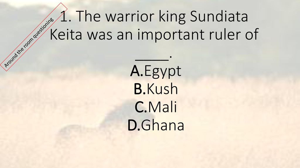 which statement about king sundiata of mali is true
