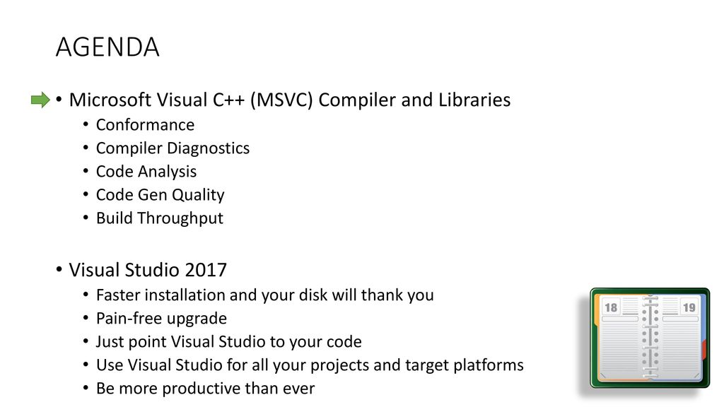 Latest and Greatest in Visual Studio for C++ developers - ppt download