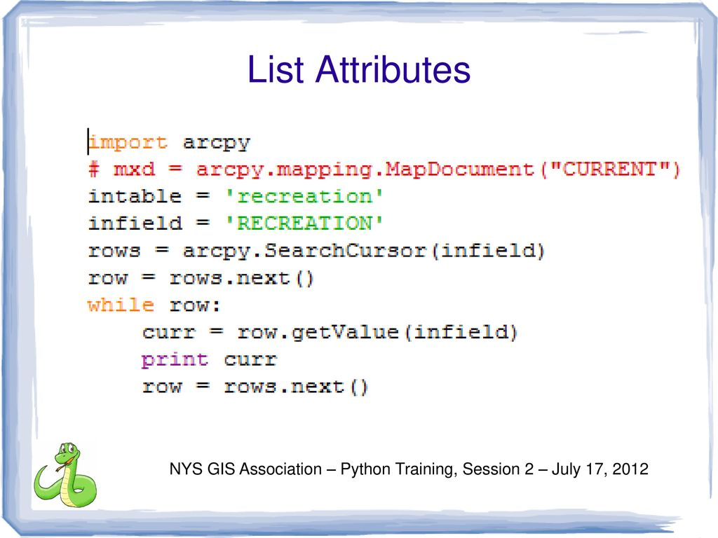 Arcpy searchcursor to list