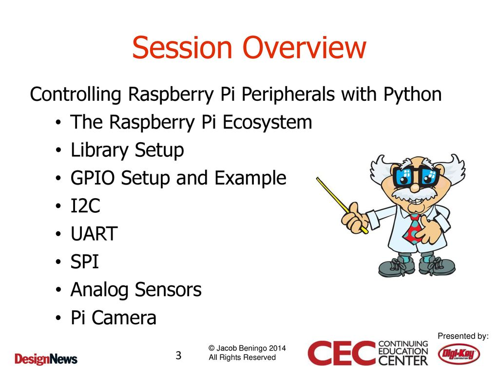 Embedded Software Development with Python and the Raspberry