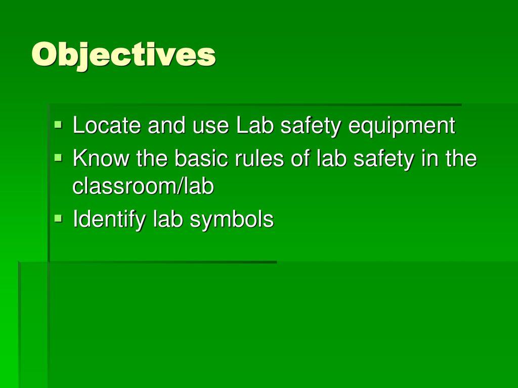 LAB SAFETY RULES based on FLINN SCIENTIFIC'S MIDDLE SCHOOL