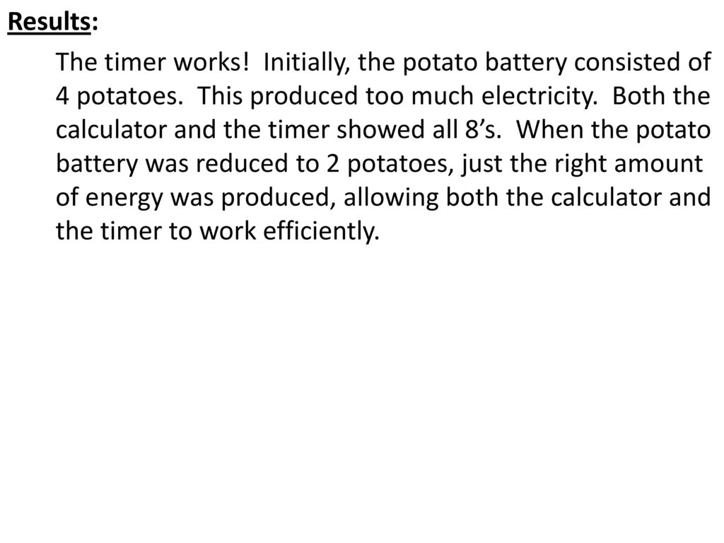 Science Safety Ppt Download Potato Battery Diagram 20 Results