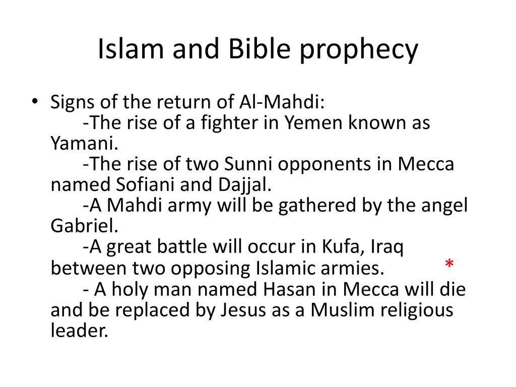 Islam and Bible Prophecy- by Dr  Stephen Plaster - ppt download