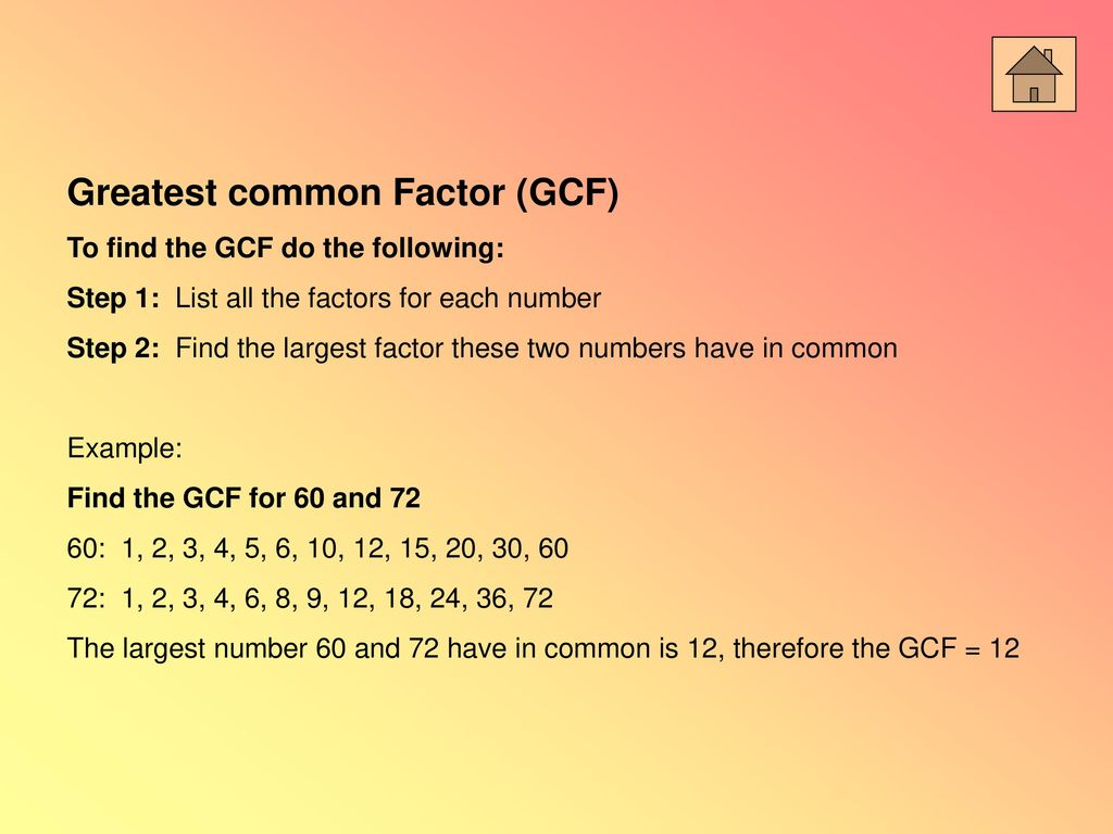 Prime Factorization Factor Trees Greatest Common Factor Ppt Download