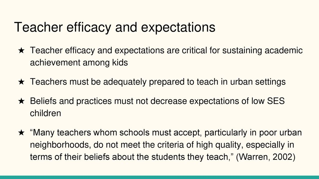 Low Academic Expectations And Poor >> Effective Factors That Increase Academic Achievement Among Low Ses