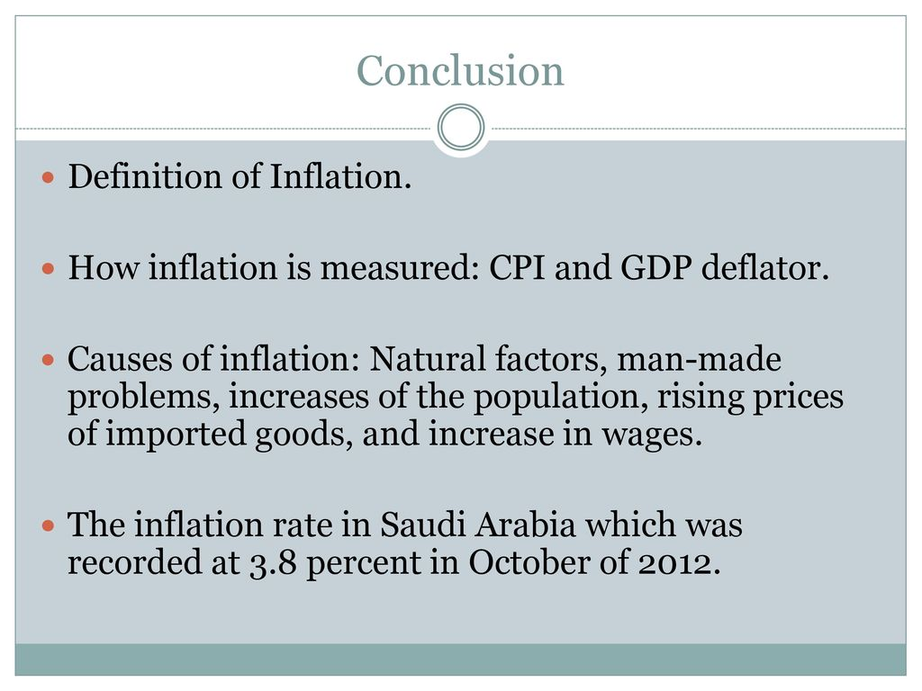 Inflation Fadil Almohsen ppt download