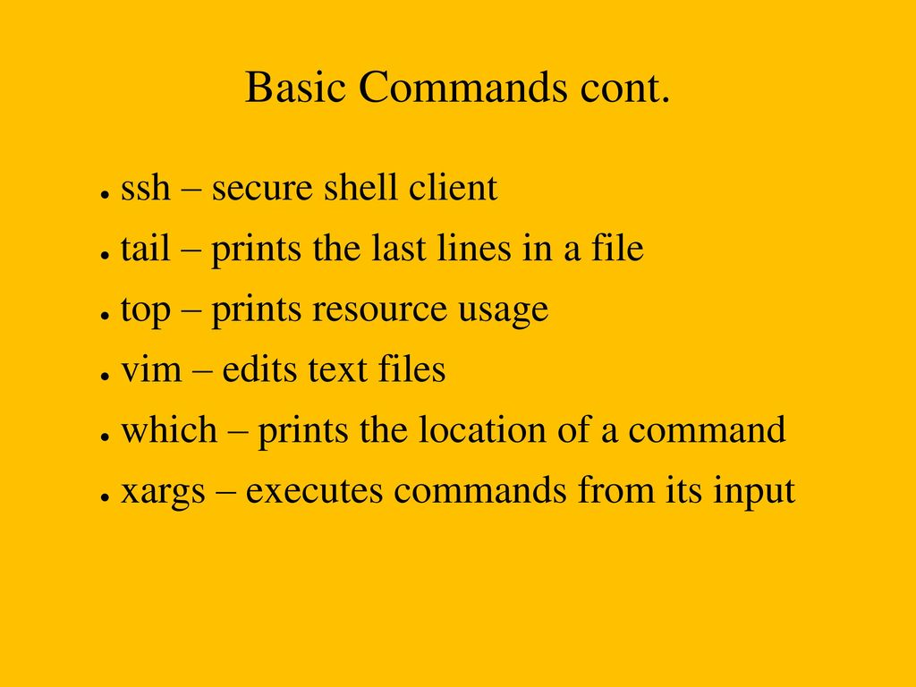 Chapter 11 Command-Line Master Class - ppt download