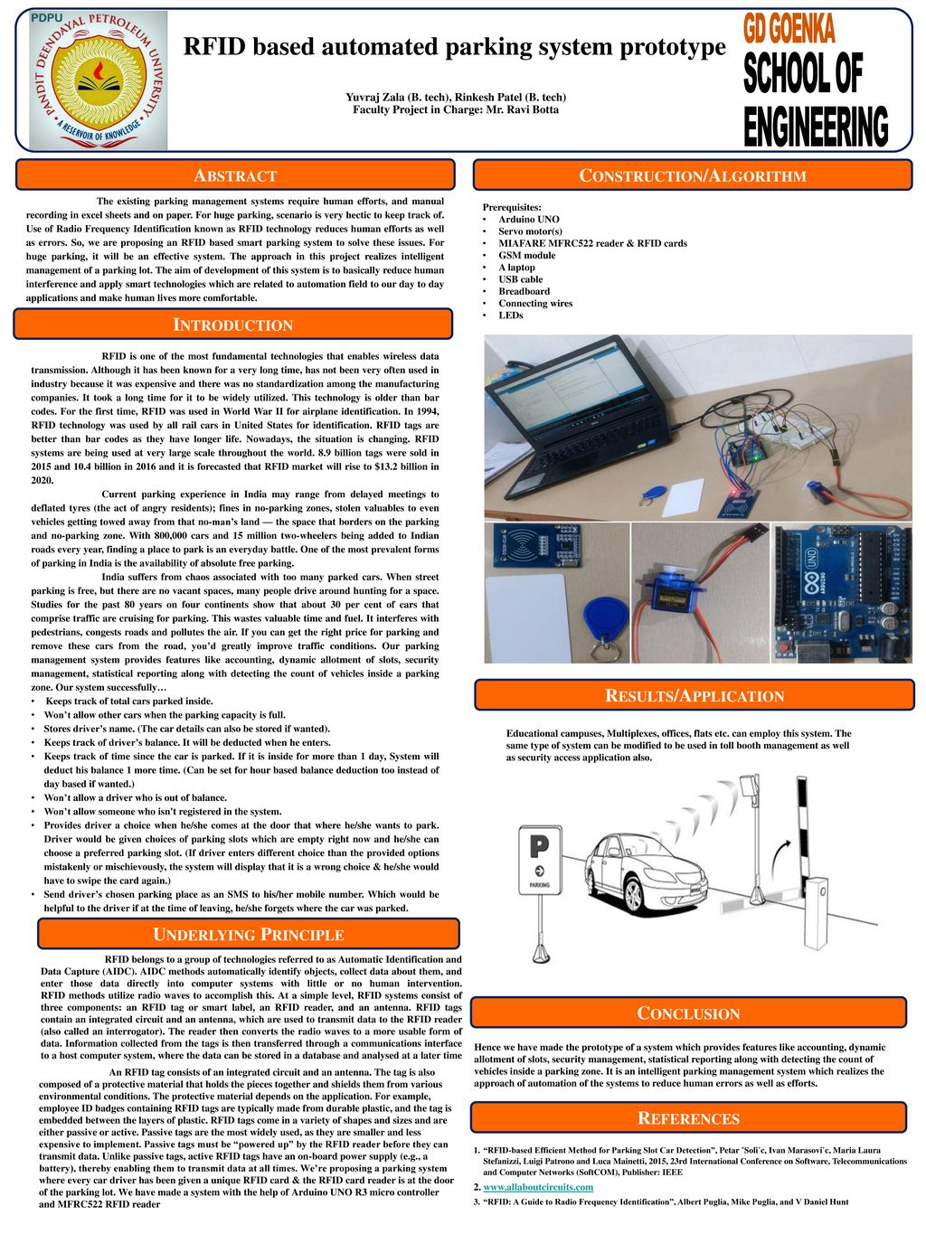 RFID based automated parking system prototype - ppt download