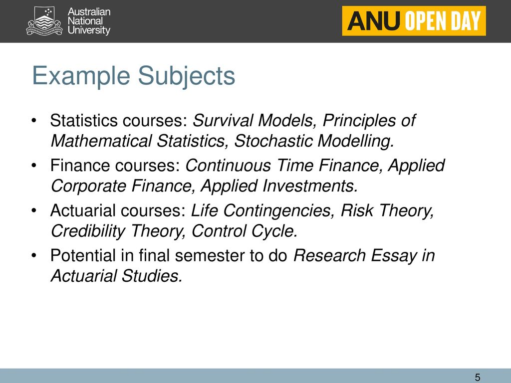 Actuarial Masters Programs - ppt download