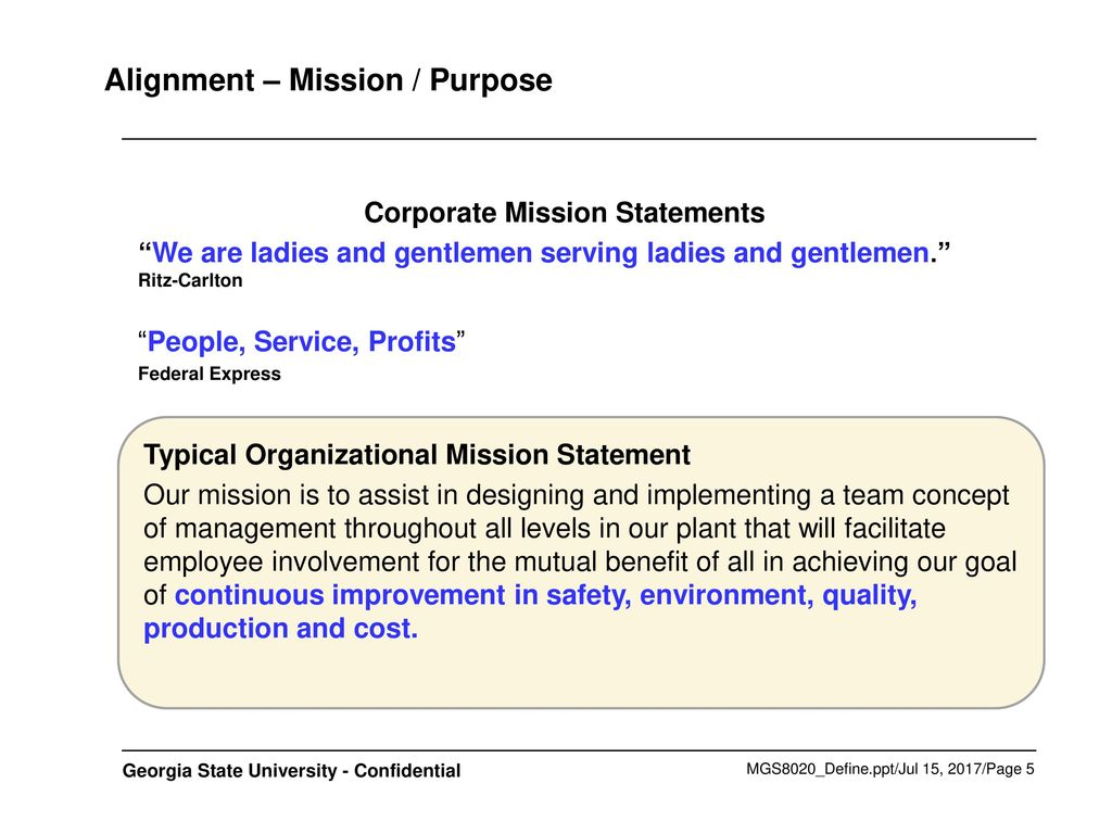 federal express mission statement