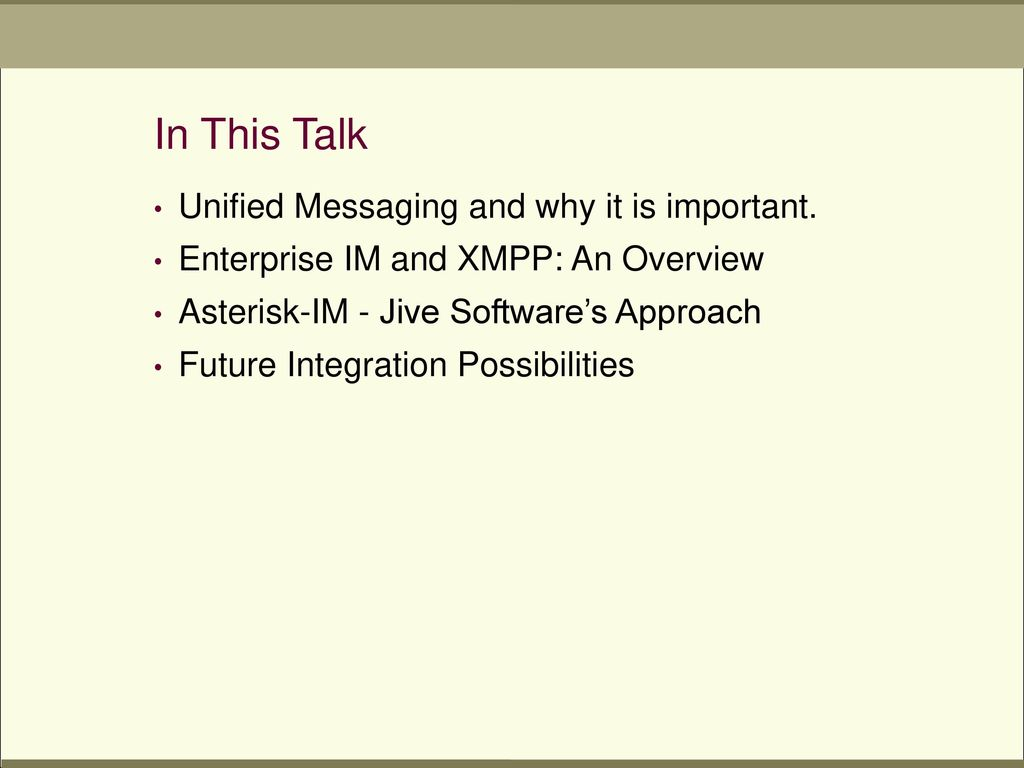 Instant Messaging and Asterisk - ppt download