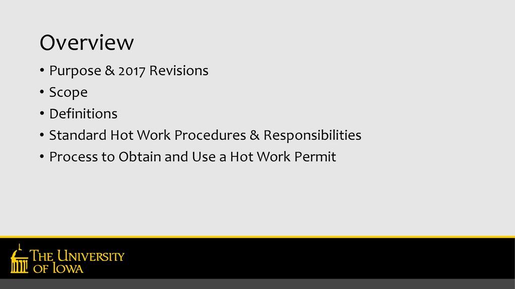 Hot Work Loss Prevention Program Ppt Download