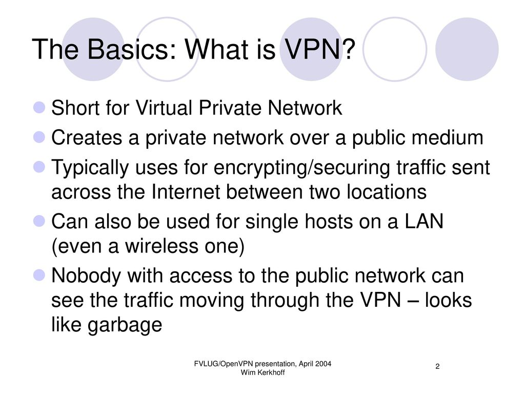 Virtual Private Networking with OpenVPN - ppt download